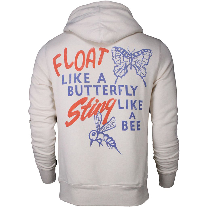 roots of fight muhammad ali stinger pullover hoodie. Black Bedroom Furniture Sets. Home Design Ideas