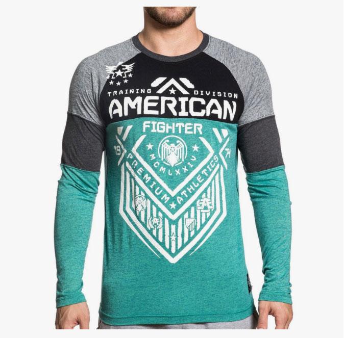 American Fighter Long Sleeve Shirts Fighterxfashion Com