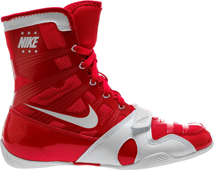 Nike HyperKO Boxing Boots Blue//Red High Quality Nike Boxing Shoes
