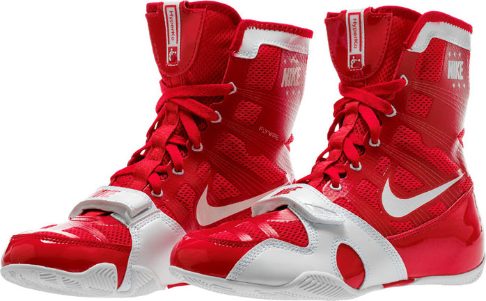 red nike boxing boots
