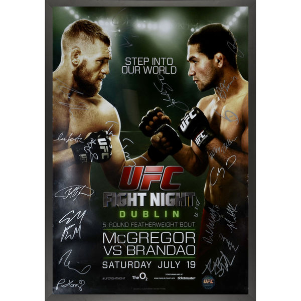 Conor Mcgregor Autographed Ufc Fight Night 46 Posters
