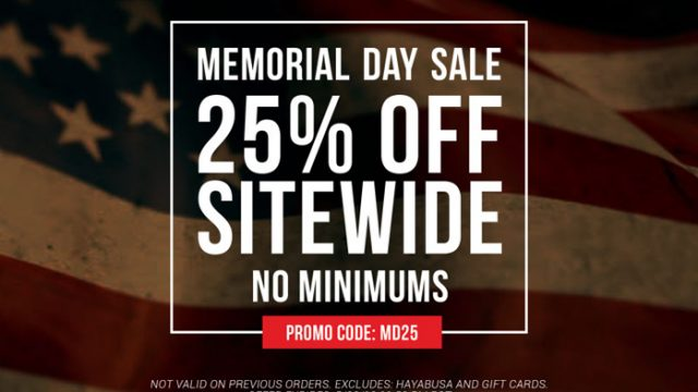 da6ce233d4c6 Memorial Day Sale at MMA Warehouse – 25% Off Sitewide No Minimums for a  Limited Time