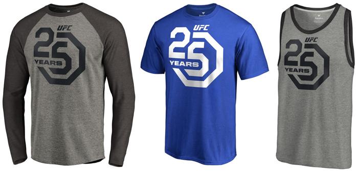 new ufc 25 years shirts  fighterxfashion