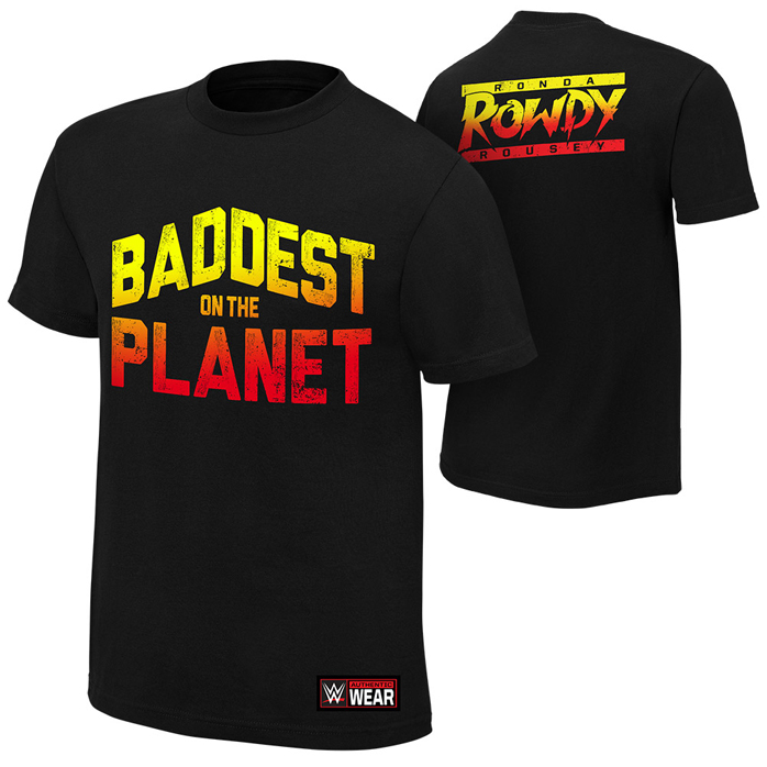 "Ronda Rousey WWE ""Baddest on the Planet"" T-Shirt and Full ..."