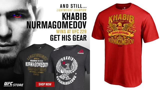 621d4bbadf3385 Khabib Nurmagomedov UFC 229 Champion Gear. Following Khabib Nurmagomedov s  victory over Conor McGregor ...