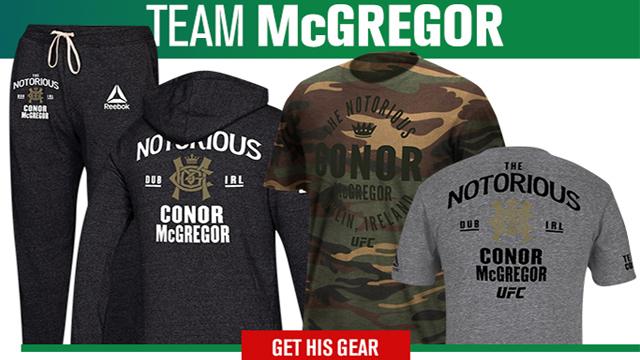 9be614eea9d577 Conor McGregor UFC 229 Reebok Team Gear – FighterXFashion.com