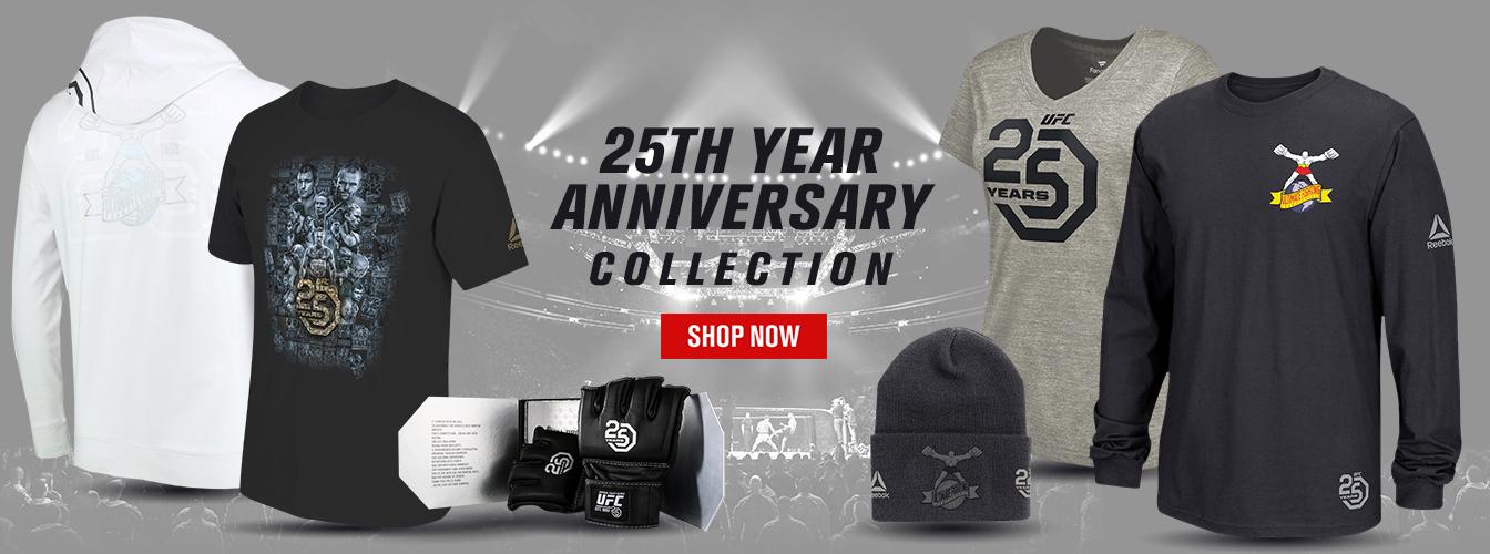 ufc 25th anniversary reebok collection  fighterxfashion
